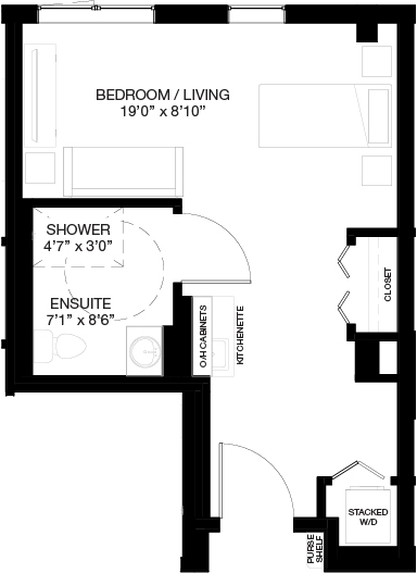 440-460 SF SUPPORTIVE STUDIO_(Assisted Living Dementia Care)