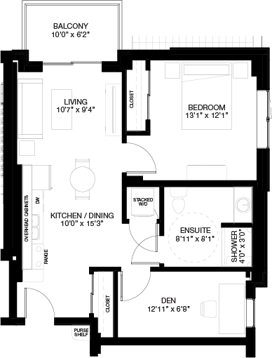 680 SF 1 BEDROOM WITH DEN_(Independent Living)